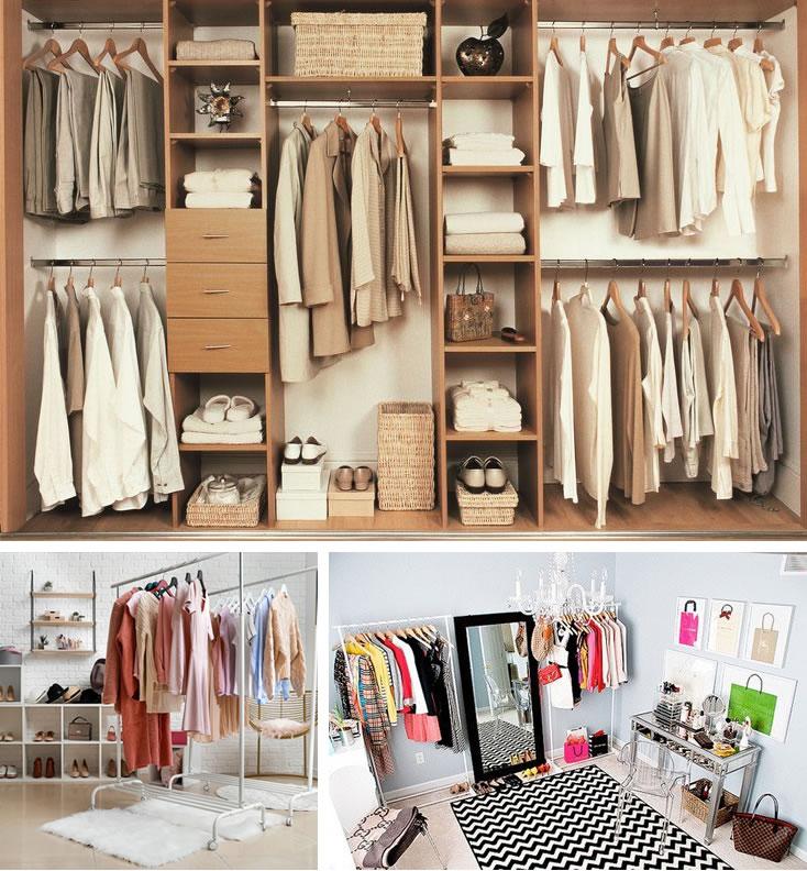 Açık Dolap Modelleri - Giyinme Odaları