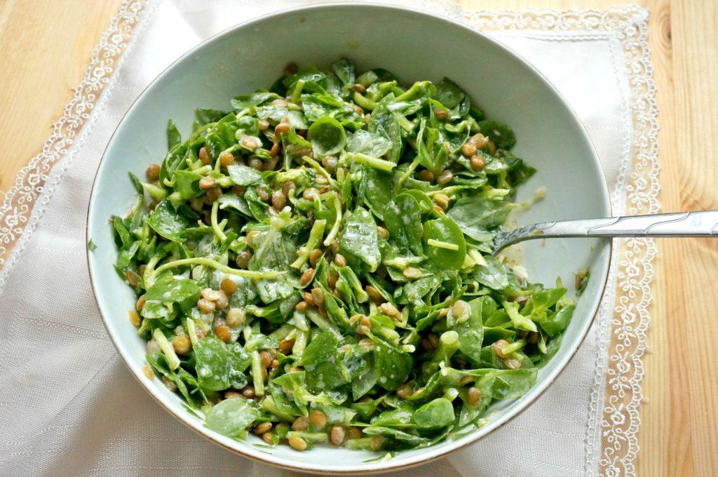 Mercimekli Semizotu Salatası
